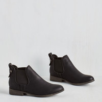 Military Downtown for the Day Bootie in Black by Madden Girl from ModCloth