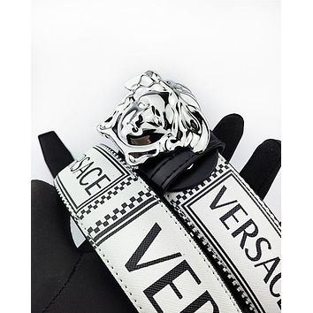 Versace hot seller of printed multicolored belts for men and women #6