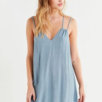 UO Strappy Textured Mini Dress | Urban Outfitters