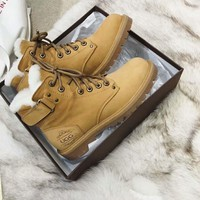 UGG Fashion casual warm lace Martin boots