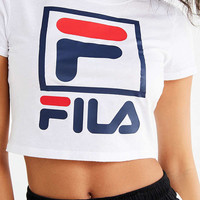 FILA + UO Cropped Logo Tee | Urban Outfitters