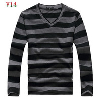 2015 man fake designer brand clothes casacos masculinos sueter sweter mens jumper  turtleneck male sweaters polo pullover  25
