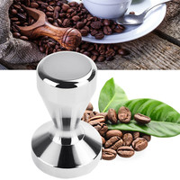 Stainless Steel Modern Espresso Coffee Tamper Machine DIY Coffee Bean Press Flat Base Hammer