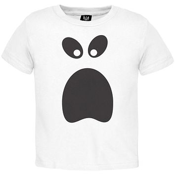 Halloween Ghost Face 3 Toddler Costume T-Shirt