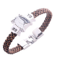 Leather Silver Alloy Bracelet