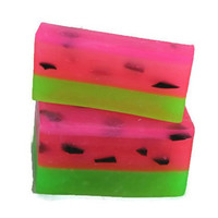 Watermelon Soap - Organic Soap - Watermelon Birthday Favors - Watermelon Bar Soap - Stocking Stuffer - Gift for teens - Summer Soap Favors