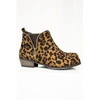 Zoey Suede Booties | Cheetah