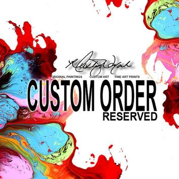 RESERVED FOR ANDREA L - Custom MADE TO ORDER - Abstract Canvas Art Huge 4pc 72x36 Painting by Destiny Womack - dWo