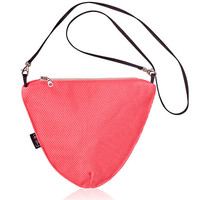 vegan salmon pink clutch with detachable strap triangle geometric bag evening clutch - Small Triangle