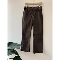 Rouje Brown Zip Front Jeans*