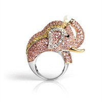nOir Jewelry - Animal Rings - Goldie the Elephant