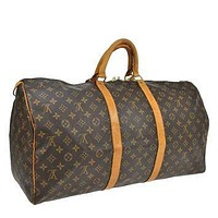 Reduced Authentic Vintage Louis Vuitton Keep All 55 Boston Keep All Duffle Bag Good Co