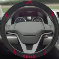 FANMATS University of Alabama Steering Wheel Cover - Embroidered