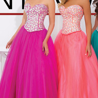 Strapless Sweetheart Ball Gown by Tony Bowls