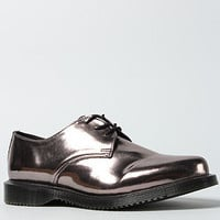The Tanner 3-Eye Pointed Shoe in Pewter