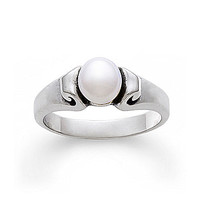 James Avery Pearl Scroll Ring - Silver/Pearl 8
