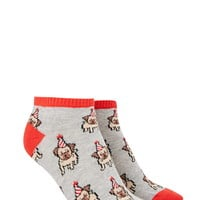 Party Pug Ankle Socks