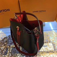 DCCK2 L013 Louis Vuitton LV Lockme Bucket Fashion Handbag 24.5-27-15 Black