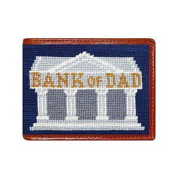 Bank of Dad Needlepoint Wallet by Smathers & Branson