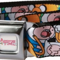 Adventure Time Finn and Jake Stacked Faces Seatbelt Belt