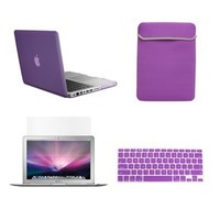 """TopCase Macbook Pro 13"""" 13-inch (A1278 / with or without Thunderbolt) 4 in 1 Bundle - Rubberized Hard Case Cover + Matching Color Soft Sleeve Bag + Silicone Keyboard Cover + LCD HD Clear Screen Protector - NOT FOR RETINA DISPLAY - with TopCase Mouse Pad (P"""