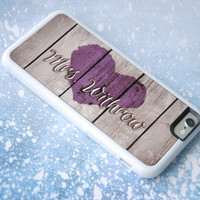 Personalized Phone Case, Purple Mrs Rustic Wood iPhone 6 Case, iPhone 6 Plus, 6+ Case, Galaxy S4 Case