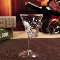 1Pc  Crystal Skull Head Vodka Whiskey Drinking Wine Glass Goblet Cup Glassware Decanter Drinkware