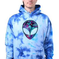 Galaxy Alien Head Face Emoji Space Tumblr Tie Dye Hoodie Sweatshirt Jumper