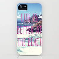 Life Is Better At The Beach iPhone Case by Sabine Doberer   Society6