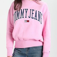 Tommy Jeans Trending Casual Embroidery Logo Loose Crewneck Sweater Pullover Sweatshirt-4