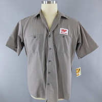 Miller High Life Beer / Delivery Man / Gray XL Short Sleeve / Work Shirt / Beer Patch / Patches