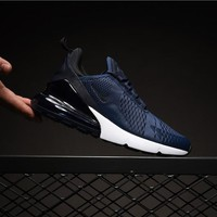Nike Air Max 270 Navy AH8050-400 Sport Running Shoes - Best Online Sale