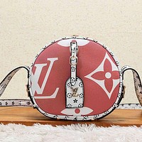 Louis Vuitton LV Women Fashion Leather Round Crossbody Satchel