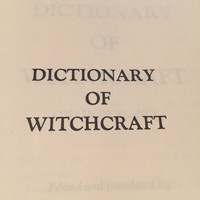 Dictionary of Witchcraft Book