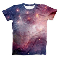 The Vibrant Space ink-Fuzed Unisex All Over Full-Printed Fitted Tee Shirt