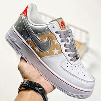 Nike Air force 1 Starry Sky Fashion Women Men Casual Sport Running Shoes Sneakers