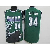 Classic NBA Basketball Jerseys Milwaukee Bucks #34 Ray Allen Green Classics