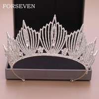 Luxurious Rhinestone Wedding Bridal Crown  Crystal Tiara