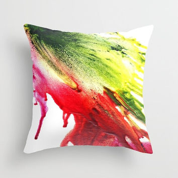 Indoor pillow Red and green running color  Double-side print Abstract color blast Pillow or pillowcase Square pillow Active and fresh