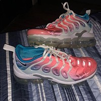 Nike Air Max Vapormax Plus TN Vascular Atmospheric Cushion Sunset Yellow Fashion Personality Men's and Women's Casual Sports Shoes