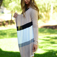 Between the Lines Cardigan - Taupe