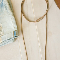 Leather Wrap Necklace- Taupe