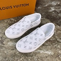 lv louis vuitton men fashion boots fashionable casual leather breathable sneakers running shoes 666