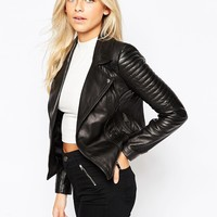 Oasis Leather Biker Jacket