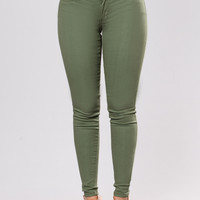 Me And My Girls Pants - Olive