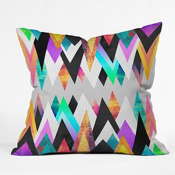 Elisabeth Fredriksson Colorful Peaks Throw Pillow