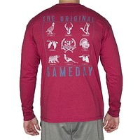 The Original Gameday Long Sleeve Tee Shirt in Rhubarb by Southern Proper