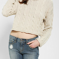 Urban Outfitters - Sparkle & Fade Chunky Cable-Knit Cropped Sweater