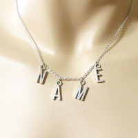 Personalized, Name, Necklace, Customized, Necklace, Name, Jewelry, Letter, Necklace, Silver, Initial, Necklace, Personalized, Necklace, gift