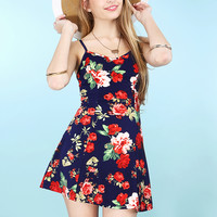 Floral Cami Flare Dress